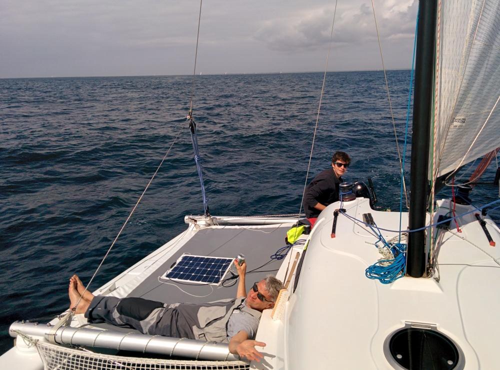 Trampoline tribord occupé