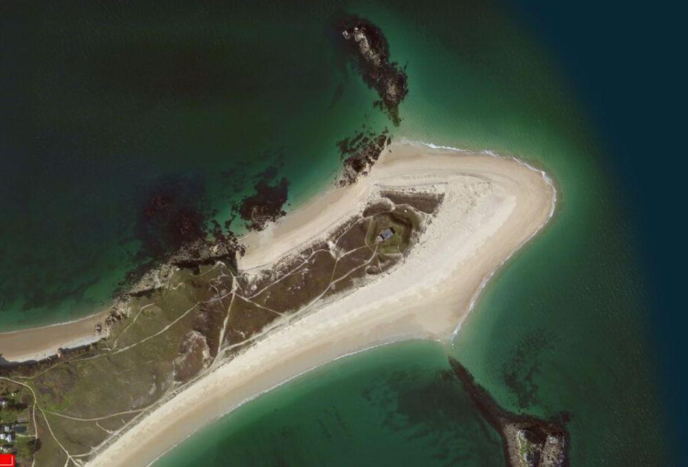 Vue aérienne Pointe d'Ental (Houat)